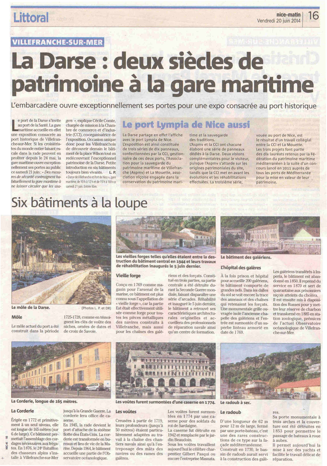 nice-matin 20 06 14 article darse